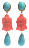 Buddha mit cremeweißem Tropfen_