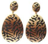 Tiger-Muster XL schwarz auf weiß_