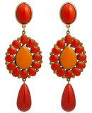Ohrstecker mit Tropfenbehang koralle und orange; auch als Ohrclips_