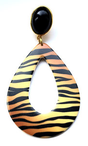 Animal Print Acryl-Tropfen, Tiger-Muster Brauntöne