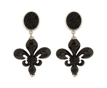 Kristalle schwarz mit Acryl-Bourbonen-Lilie schwarz