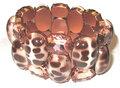Armband-2-reihig-apricot-+-Animal-print