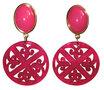 Laser-Cut-rundes-Ornament-mit-Lilienform:-pink-marmoriert