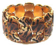Armband-2-reihig-braun-schwarz-Tiger-Optik-Animalprint